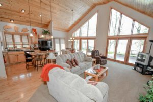 A-frame home on Lake Mille Lacs in Minnesota