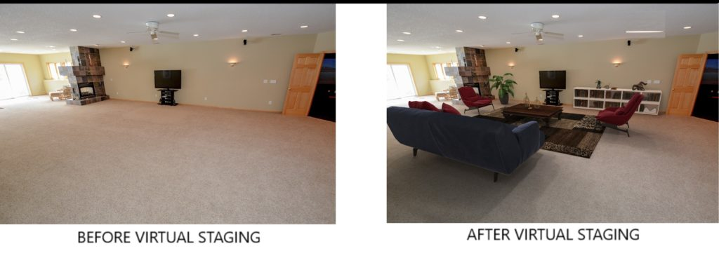Virtual Home Staging - Before and After