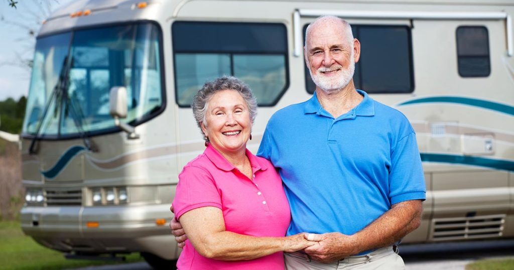 Retired couple with RV