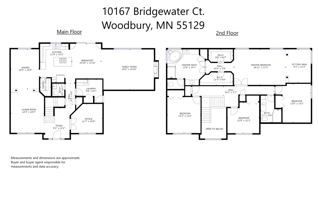 Floor Plan for 10167 Bridgewater Court