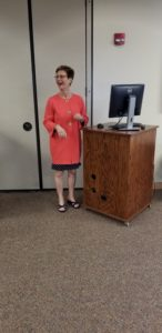 Becky Durham Presenting at Hudson Hospital for Hudson Women's Club Meeting
