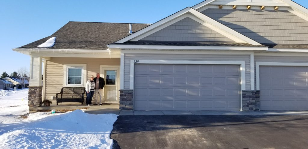 Downsizing to one-level living new construction in New Richmond, WI