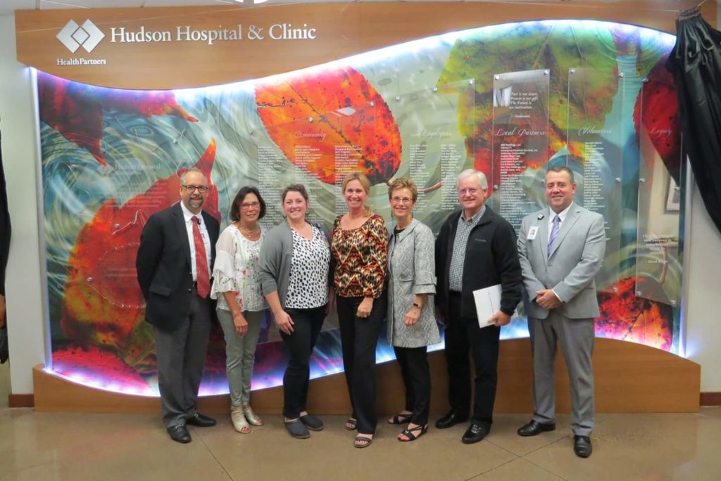 Becky Durham participation at the Gratitude unveiling wall ceremony at Hudson Hospital