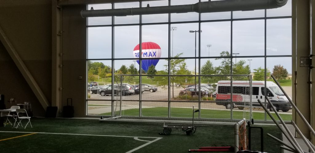 REMAX hot air balloon at philanthropy event
