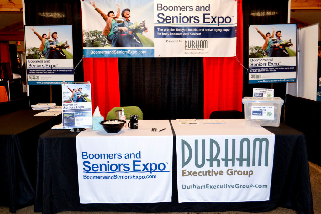 Registration Desk for the Hudson WI Boomers and Seniors Expo