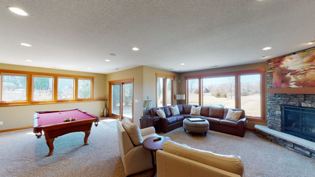 Lower level family room of 317 Lindsay Road for Sale!