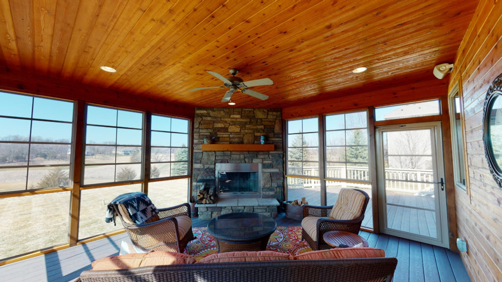 3-Season Heated Porch overlooking Troy Burne Golf Fairways #17 and #18